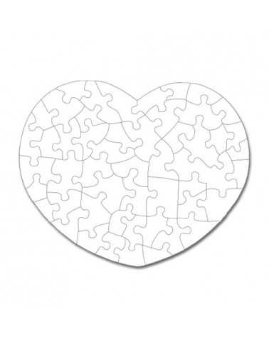 Puzzle a Cuore Personalizzato -