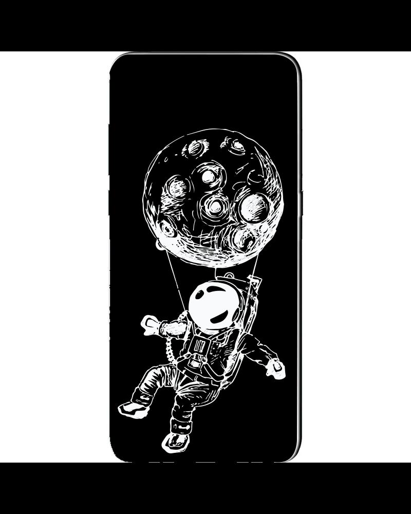 Astronauta con Luna Paracadute - Cover Collezione -