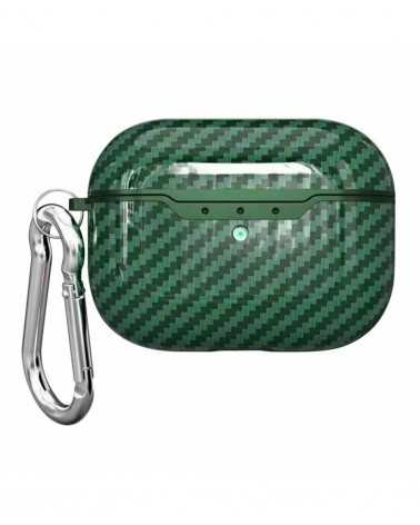 Airpods Pro Carbon Style Verde Personalizzata -