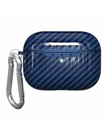 Airpods Pro Carbon Style Blu Personalizzata -