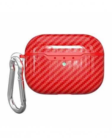 Airpods Pro Carbon Style Rossa Personalizzata -