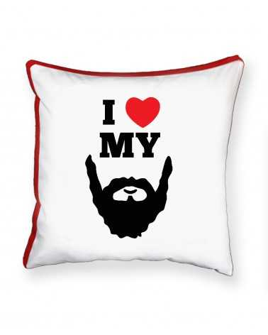 I Love My Beard - Cuscino Personalizzato -