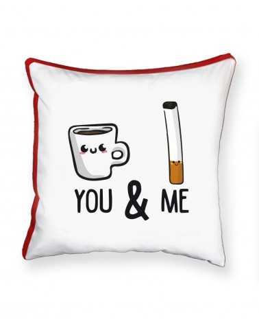 Caffè e Sigaretta - Cuscino Personalizzato -