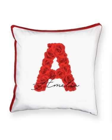 Monogram Roses - Cuscino Personalizzato -