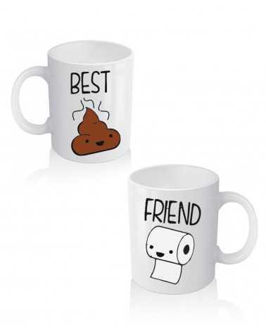 Best Friend S*it - Coppia di Tazze Personalizzate -