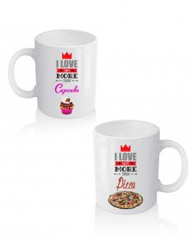 Love Him Love Her - Coppia di Tazze Personalizzate -