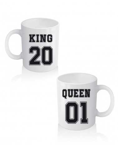 King e Queen Number2 - Coppia di Tazze Personalizzate -