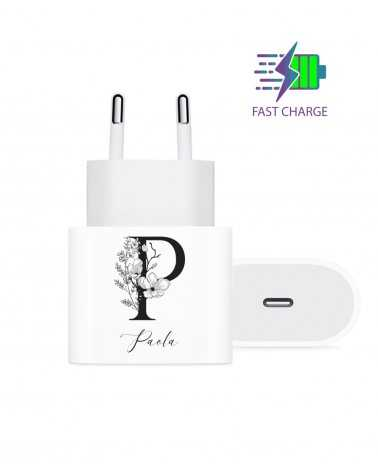 Monogram Flower - Wall Charger -