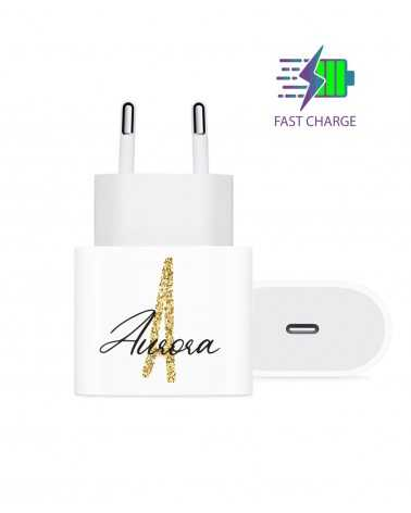 Monogram Glitter - Wall Charger -