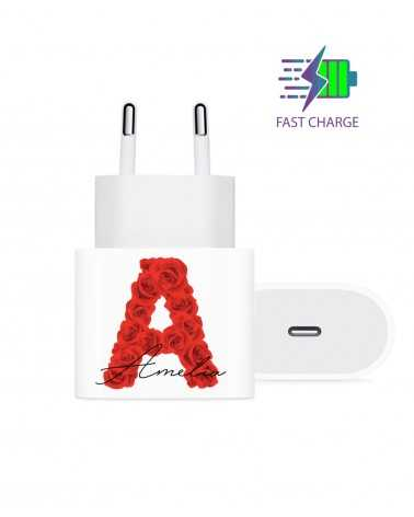 Monogram Roses - Wall Charger -