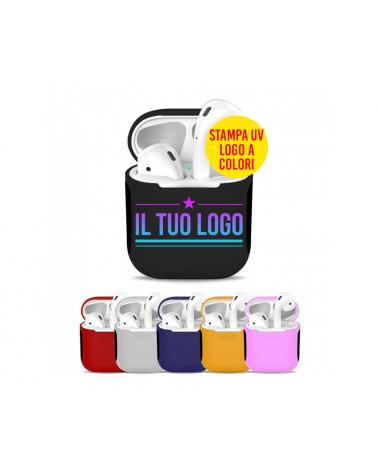 Custodie Airpods Colori Misti con Logo -